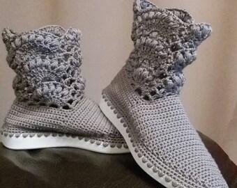 Crochet boots for women