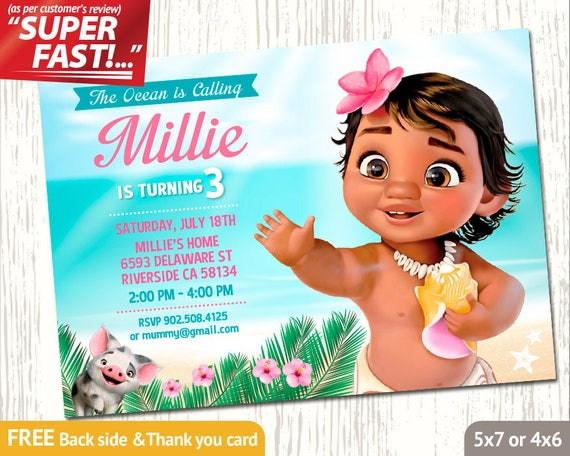 moana invitation template free - moana invitation printable moana birthday invitation moana
