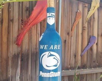 Penn State Wind Chime, Wind Chime, Wind chimes, Recycled Wine Bottle, Capiz Oyster, Shell Wind Catcher, PSU, College Gifts