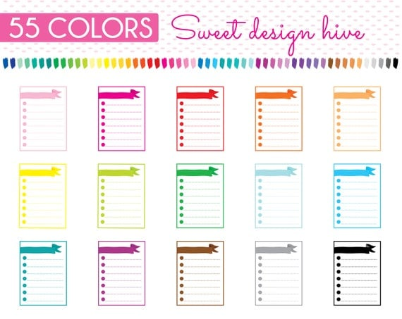 Weekly Checklist Clipart Habit Tracker Clipart Weekly Check List