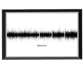 Bathtub Gin Soundwave Print (B/W) - Phish