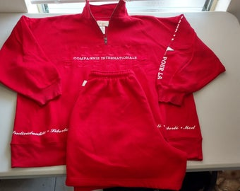 Vintage Express Athletique France express compagnie internationale sweatshirt and swratshorts complete outfit