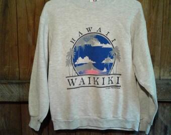 Waikiki Hawaiian Sweatshirt Size M/L
