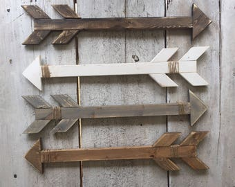 Wooden arrows / nursery decor / gallery wall decor / home decor / wall decor / handmade
