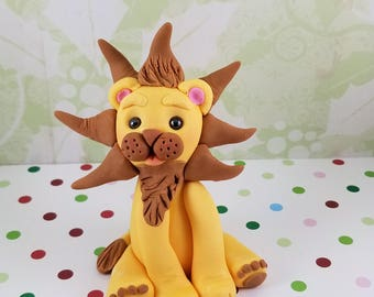 Fondant Edible Lion Baby 1st Birthday Boy Girl Cake Topper
