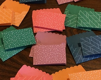 Mini Scalloped Envelopes and Note Cards