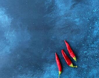 "Blue dark photo plank, Food photography backdrop ""Porto"""