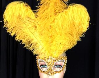 Gold Rhinestone Mask
