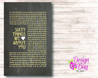 60 Things We Love About You - Poster