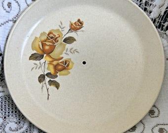 Johnson of Australia Sandwich Plate - Gold Roses