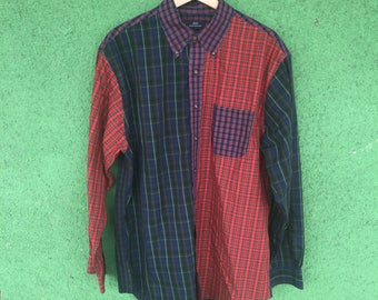 Vintage 90s Brook's Brothers Mixed Design Button Up Shirt