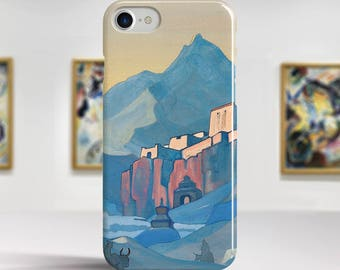 """Nicholas Roerich, """"Stronghold of the Spirit"""". iPhone 6 Case Art iPhone 7 Case iPhone 8 Plus Case and more. iPhone 6 TOUGH cases."""