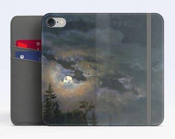 "Johan Dahl, ""A Cloud Study by Moonlight"". iPhone 8 Wallet case, iPhone 7 Wallet case  iPhone 6 Plus Wallet case. Samsung Wallet cases."