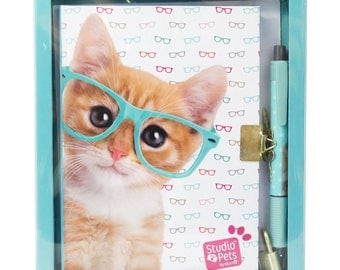 Secret diary with lock and pen in gift box CAT