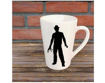 Freddy Krueger Nightmare on Elm Street Horror Mug Coffee Cup Halloween Gift Home Decor Kitchen Bar Gift for Her Him