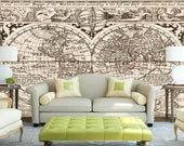 Ancient World map wallpaper  Peel  stick  self adhesive and removable  Reusable  High Quality materials  DIY