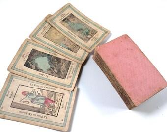 c.1885 Old Tarot Deck 78 Cards Lismon Parisian Grand Etteilla VERY RARE EDITION