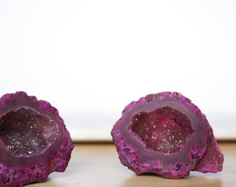 2 Agate Geode Love Caves