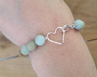 """Amazonite """"With Love"""" Bracelet"""