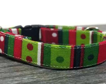 Geometric Cat Collar,Christmas cat collar,Christmas Gifts, Breakaway Collars, Cotton Cat Collars, Cat Collars, Kitty Collar, Cats Collar