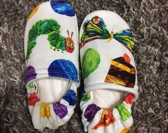 The Very Hungry Caterpillar- Spots Moccasins