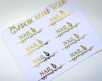 Nail Appointment - FOILED Sampler Event Icons Planner Stickers