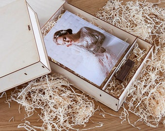"""WEDDING PHOTO BOX for 8"""" x 6"""" prints (free filling included)"""