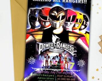 Power Rangers,Power Ranger Invitation,Power Rangers Birthday,Power Ranger Party,Power Ranger Birthday Invitation,Power Rangers Invite