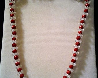 Red Neon Bead necklace