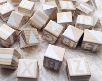Wooden Alphabet Set - White