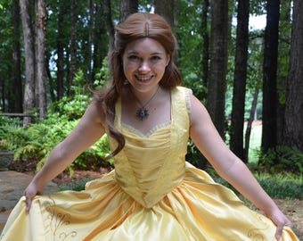 Beauty and the Beast 2017 Belle Cosplay Dress
