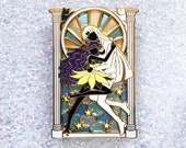 MAGICAL ROMANCE Luna & Artemis Silhouette Stained Glass Enamel Pin [Sailor Moon Crystal Magical Girl Cats Feline Love]