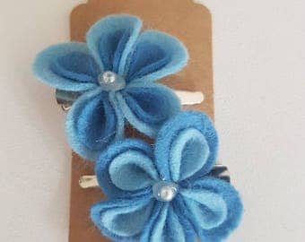 Blue pastel flower Hair Clip - The Penny