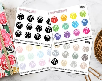 006 | Basketball // Mini Icon Planner Stickers