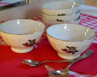 Bowls vintage 50s kitchen tableware, vintage bowls.
