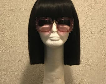 Chopped Chinese Bob w/Bangs ( black chyna) blunt bob