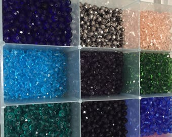 Sale!Sale!!100 pc 6 mm glass round crystal beads in bulk  2 days only