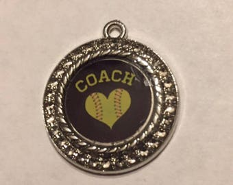 Softball coach charm