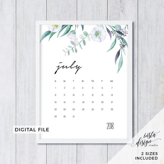 baby calendar 2018
