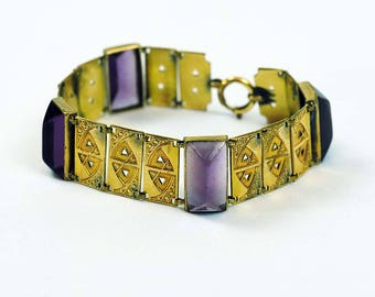 Andreas Daub Secession Rolled Gold Bracelet Circa 1900
