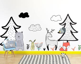 Nordic Woodland Wall Stickers