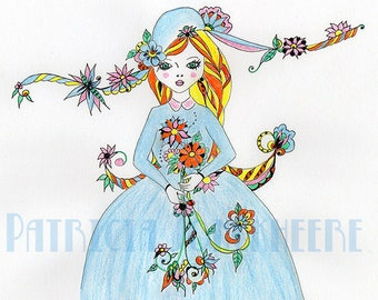 "Princess and the blue dress ""Kashmir style"""