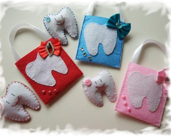 Handmade Tooth Fairy Gift Bag With a Cute Tooth