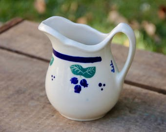Ironstone Pitcher - Small Ironstone Pitcher - Vintage Ironstone Pitcher - Hartstone Pitcher - Ironstone Creamer - Vintage Cream Pitcher