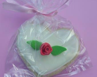 Shabby Heart  Sugar Cookie Wedding Favor