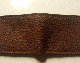 Bison Leather Bifold Wallet