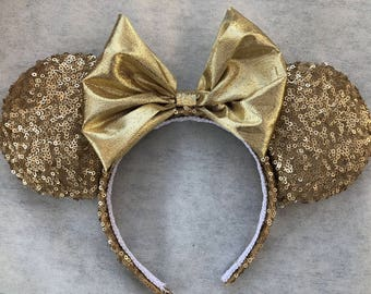 Gold Sequins Mouse Ears