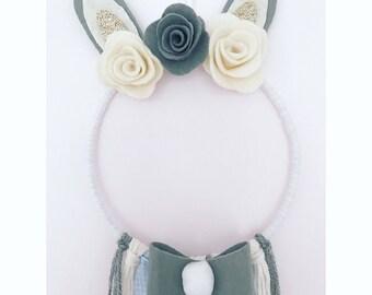 Peter Rabbit Inspired Bunny Dream Catcher Nursery Decor / Baby Shower