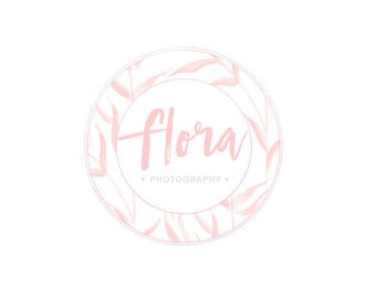 Premade Logo Design, Custom Logo Design, Floral logo, stamp, Photography Logo, watermark, 004
