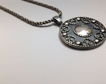 Gorgeous silver pendant zeeland motif